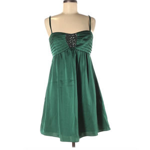 BCBGMAXAZRIA Beaded Green Cocktail Dress Size 8